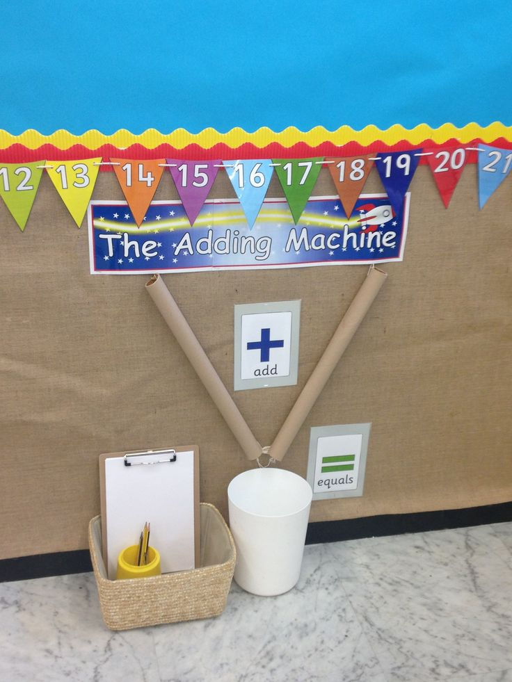 Our super adding machine. #eyfs                                                                                                                                                      More