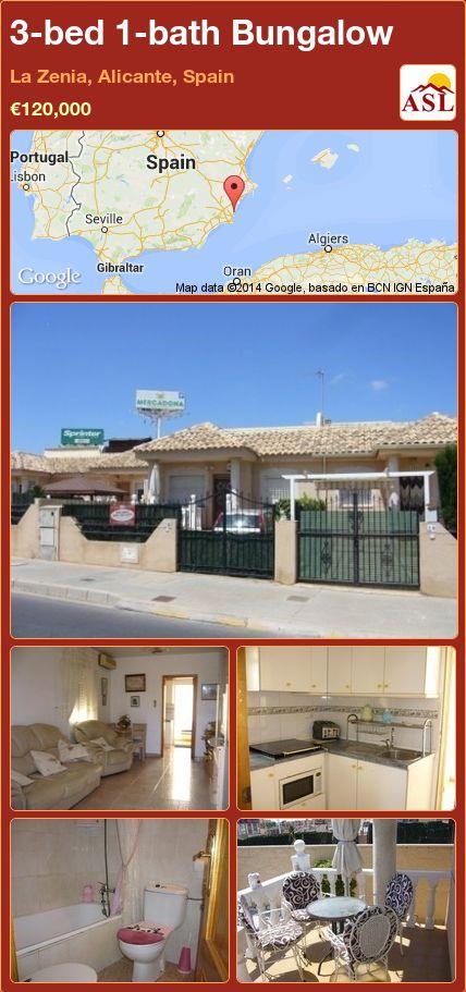 3-bed 1-bath Bungalow in La Zenia, Alicante, Spain ►€120,000 #PropertyForSaleInSpain