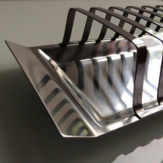 Stainless steel toast rack / 6 slices / Satinsteel London