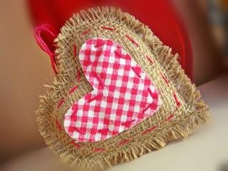 Handmade jute heart