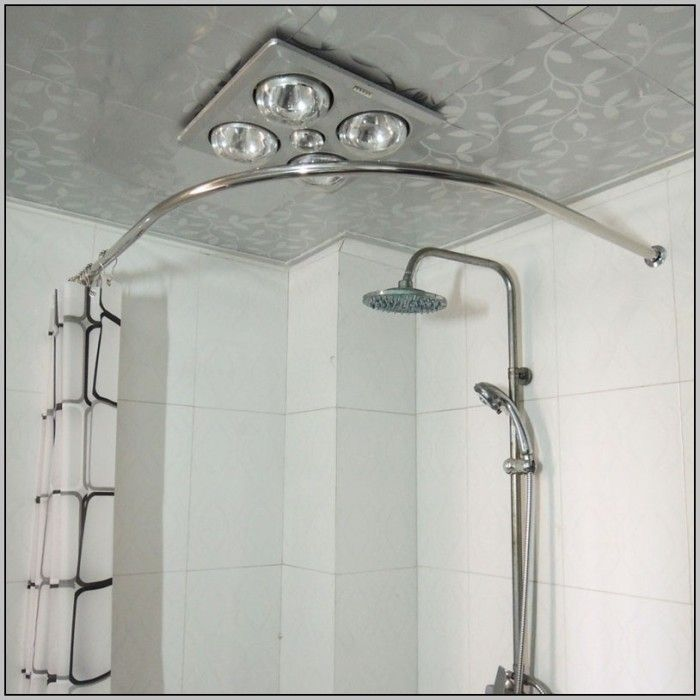 Quarter Round Shower Curtain Rod Bendable Shower Curtai Round