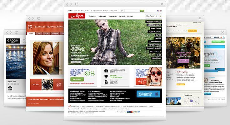 Edition et création de sites internet, sites vitrine et gestion de boutiques en ligne, e-marketing, bannières en flash et newsletters