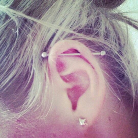 My Scaffold piercing :)