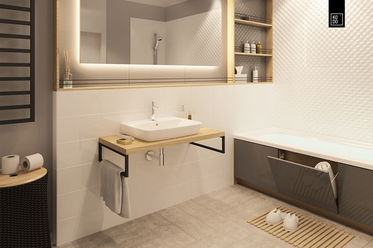 Project of Bathroom in modern/minimalistic style.