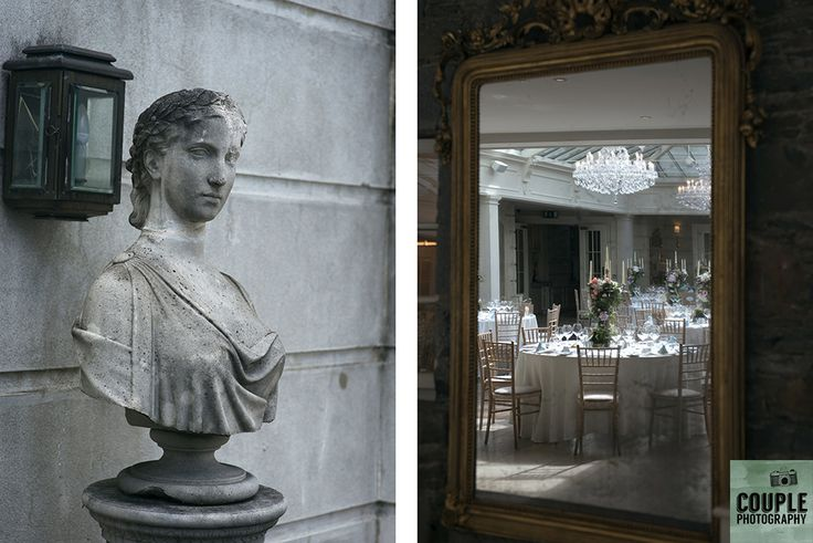 Details of the banquet room. Weddings at Tankardstown House by Couple  Photography.