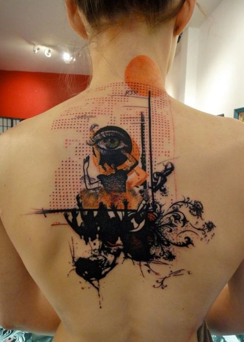 Cool Back Tattoos by Xoil