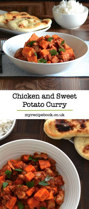 Looking for a delicious, healthy dinner? Then you should try this mild chicken and sweet potato curry, packed full of flavour from homemade korma paste. Gluten free.