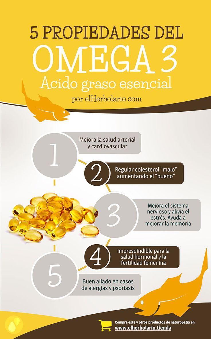5 Propiedades del Omega 3. Fundamental para la buena salud hormonal y cardiovascular, además de ser un antiinflamatorio natural muy eficaz. >> Más información en http://ecotienda.elherbolario.com/suplementos-y-dieteticos/462-omega-3-dha-y-epa-120-perlas-8711827078432.html