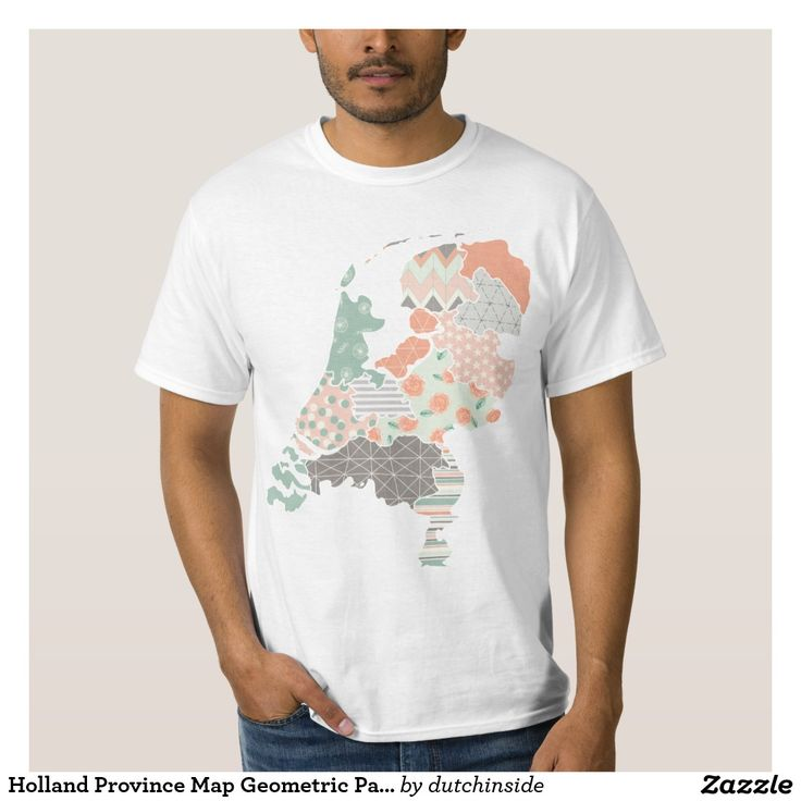Netherlands Driving Map%0A Holland Province Map Geometric Patchwork Style TShirt by  DutchInside on   Zazzle