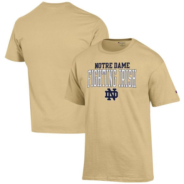 Notre Dame Fighting Irish Champion Core Mascot T-Shirt – Vegas Gold - $19.99