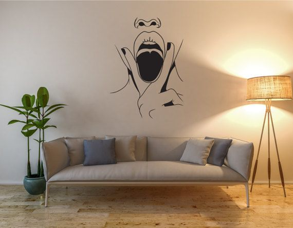 Modern Wall Decal Vinyl Wall Decals Custom Wall By GlixWallDecal