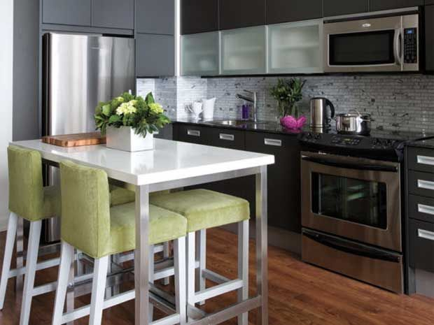 Create An Instant Breakfast Bar Like Condo Owners Erin And Ryan Did On  HGTVu0027s Pure Design