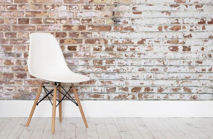 White brick bakstenen behang