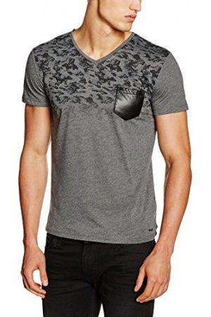 Hombre Camisetas - LTB Jeans Lihowa T/S, Camiseta Hombre, Mehrfarbig (Dark Grey Mel 218), XX-Large