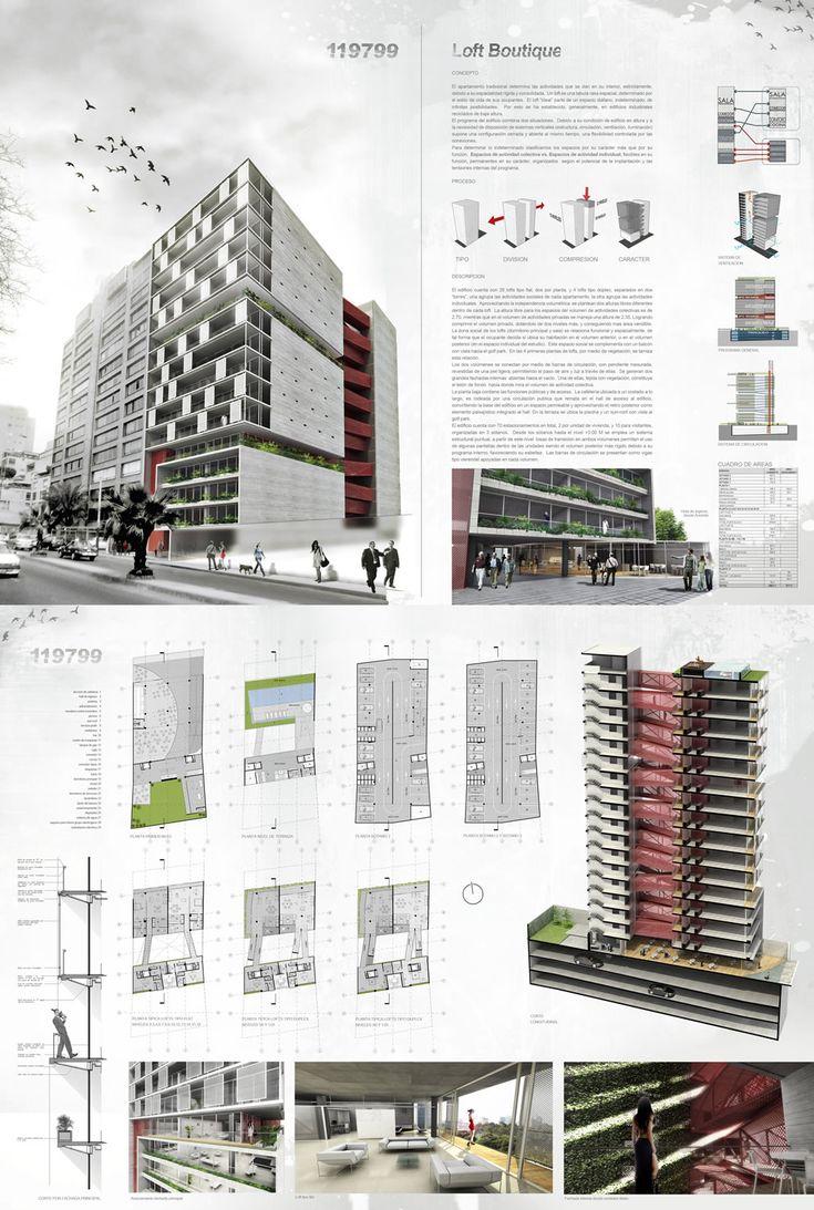 237 mejores im genes sobre ejemplos l minas de for Plan de arquitectura