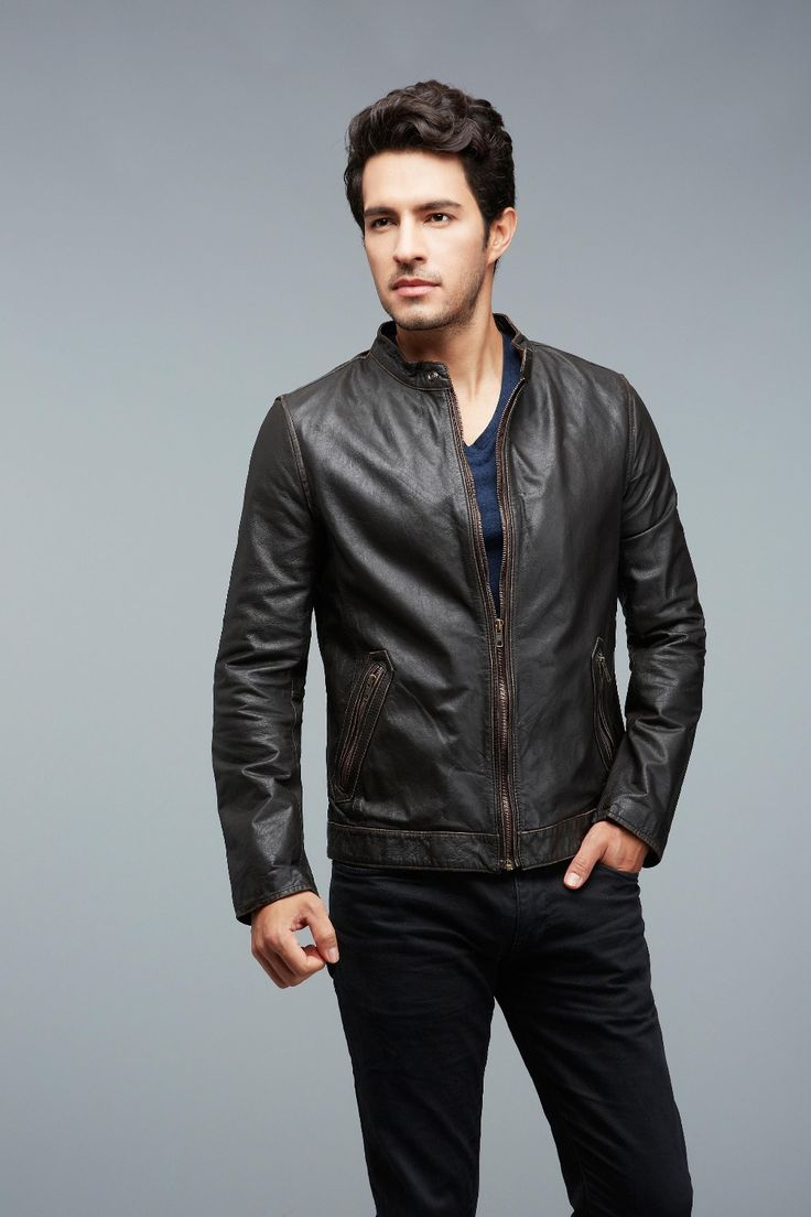 Factory-Genuine-Cowhide-Vintage-Calf-Leather-Jacket-Men-Brand-Black-Brown-