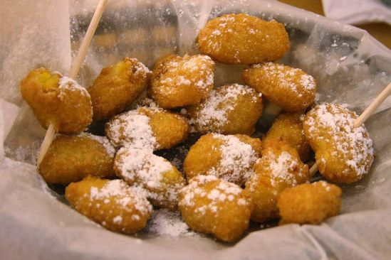 Copycat Sonny's Corn Nuggets. I always get them in Florida when I go to Sonny's! Can't wait to try to make them at home!