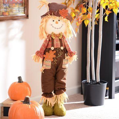 Plush Scarecrow Boy Statue   Kirklands