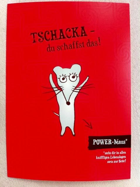 Power-Maus Tschacka Postkarte