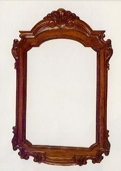 Antique Style Solid Mahogany Hand Carved Beveled Wall Mirror Large
