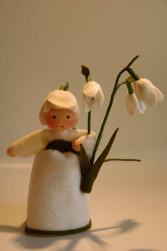 Little Snowdrop Flower Child Waldorf by KatjasFlowerfairys