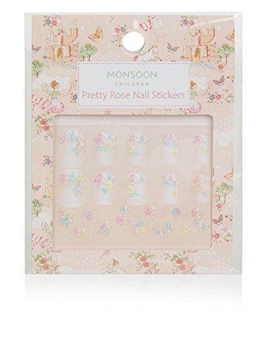 Monsoon Children Stickers pour ongles motif rose façon aquarelle – Fille: Ajoutez une finition adorable à ses ongles vernis avec nos…