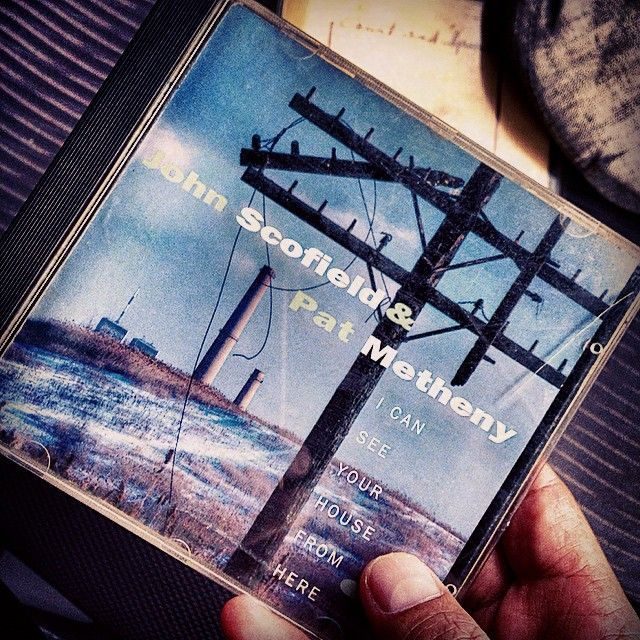 "Afternoon drive time: CD time. ""I Can See Your House From Here""/ John Scofield & Pat Metheny (1994), A great album that deserves more recognition. This is a duet of two great guitarists supported by Scofields' own band then (Steve Swallow on bass and Bill Stewart on drums). Great tunes performed by two greatest guitar players of our time. #album #cd #patmetheny #johnscofield #metheny #scofield #duet #guitar #jazzguitar #1994 #bluenoterecords #jazz"