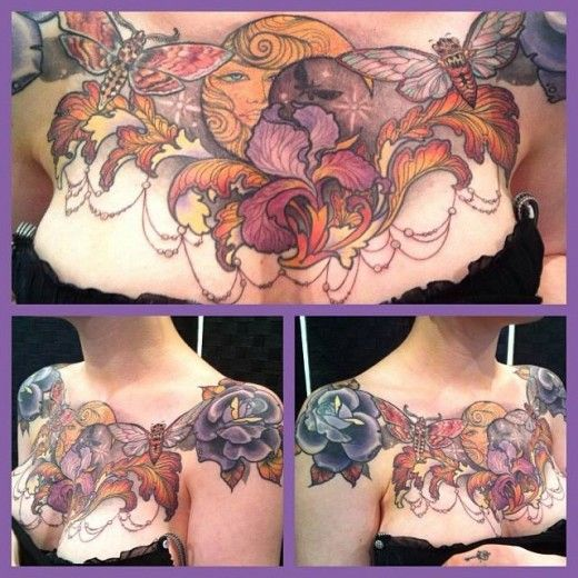 Beautiful chest tattoo that had great aftercare.