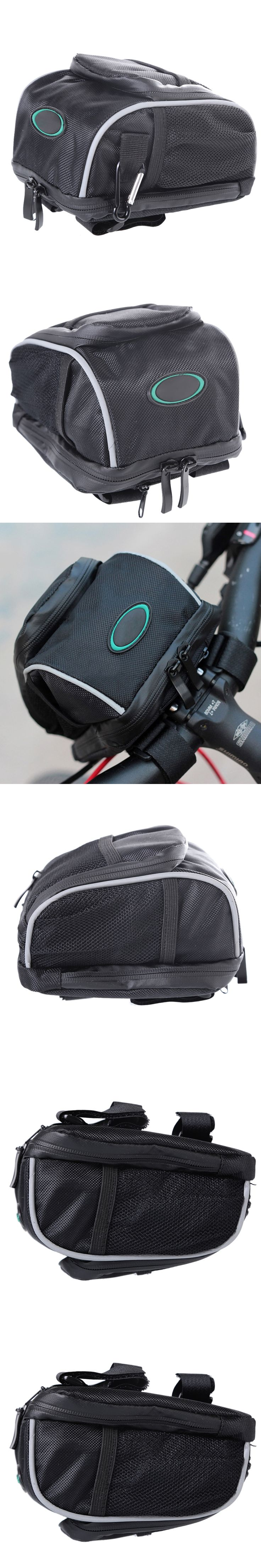 Bicycle Bag Cycling Bike Front Rear Bag MTB Mountain Road Bike Frame Handlebar Bicycle Saddle Bag With Rainproof Cover Carabiner