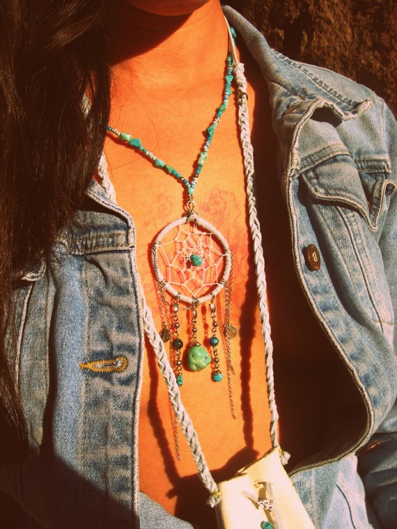 Turquoise Dream catcher necklace @shadow Shadow Shadow Shadow Byrd  Love it!