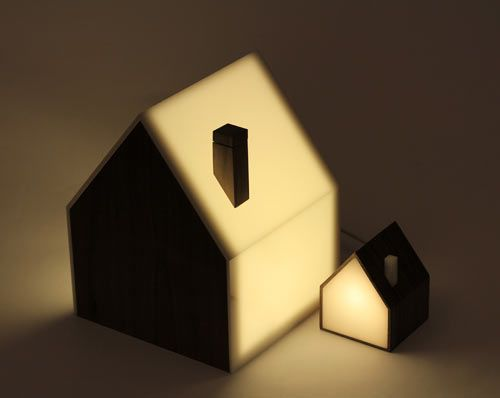 Good Night Lamp: A Family of House-Shaped Lamps