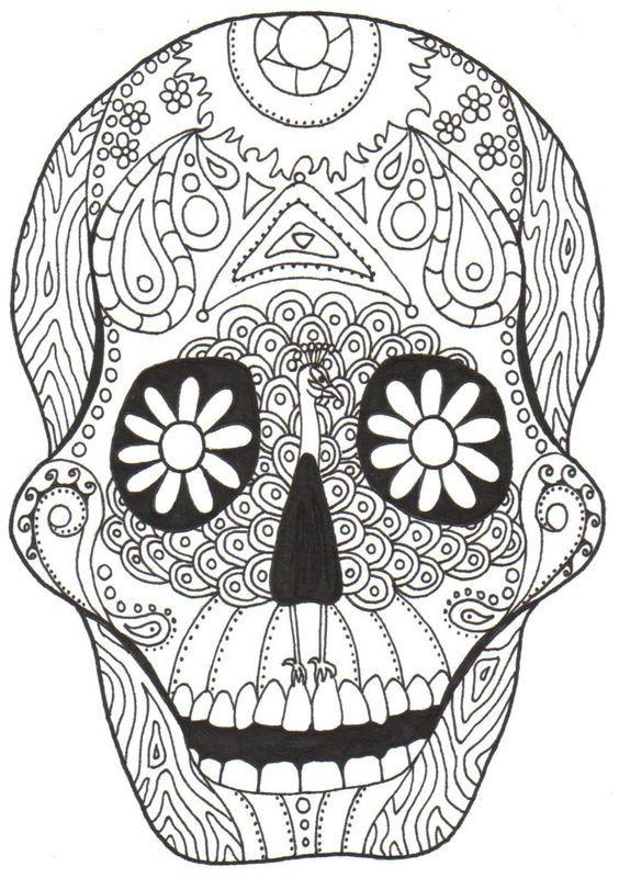 10 best dia de los muertos images on Pinterest  Sugar skulls