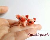 Unique Crochet Miniature Tiny Pig and Piggy