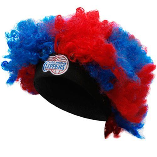 NBA Los Angeles Clippers Royal Blue-Red Curly Wig by Football Fanatics. $14.95. Soft flexible band for comfy fit. 100% Acrylic. Team logo and colors. Quality embroidery. Los Angeles Clippers Royal Blue-Red Curly Wig100% AcrylicTeam logo and colorsSoft flexible band for comfy fitOfficially licensed NBA productQuality embroideryImportedOne size fits most100% AcrylicTeam logo and colorsQuality embroiderySoft flexible band for comfy fitOne size fits mostImportedOfficial...