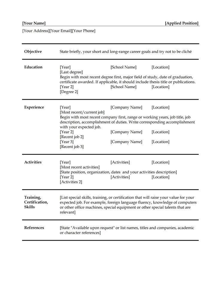 The 25+ best Simple resume ideas on Pinterest Simple resume - resume for cook