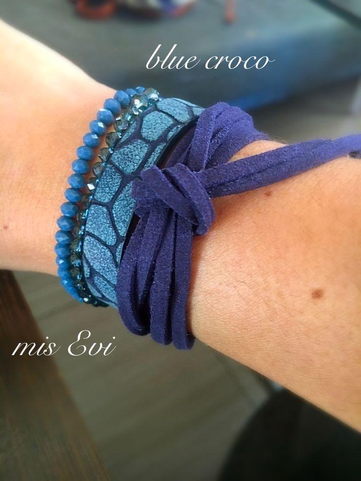 Blue croco!!!!!!!! Handmade bracelets