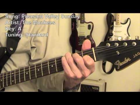 Monkeeys Pleasant Valley Sunday Guitar Lesson. You will love the beginning.