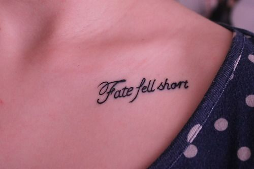 """Fate fell short"" blink-182 lyrics tattoo (due to my blink 182 obsession I had to repin! so awesome!"