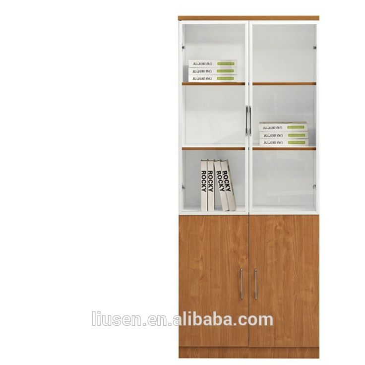 China high quality cheap office book cabinet with swing open doors