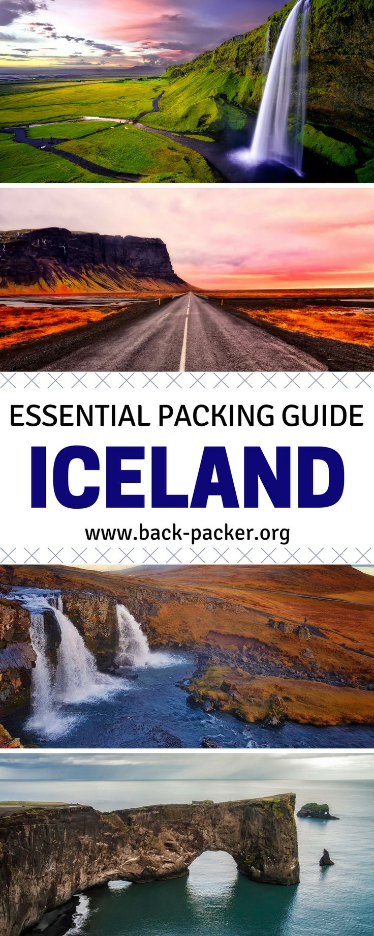 The ultimate packing list for an adventure in Iceland. Get out of Reykjavik and explore the country with the right kind of gear. Packing for summer or winter trips? Utilize these tips for surviving the both the warm and cold weather. Find the perfect backpack among the many options of bags and pack the right amount of layers to see the sights such as the Northern Lights or roaring waterfalls. | Back-packer.org #Iceland