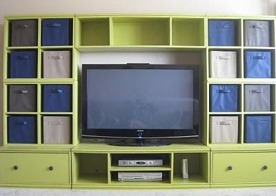 Entertainment Center for my sewing room: Bridges Hutch, Plays Rooms, Cubbies Media, Media Wall, Playrooms, Media Rooms, Families Rooms, Large Bridges, Entertainment Center
