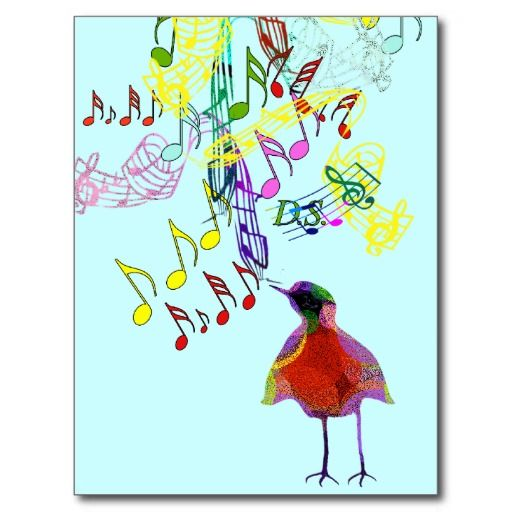 Bird Singing Postcards