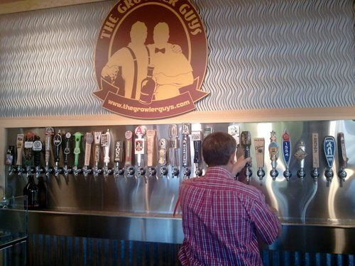 The Growler Guys - this is a Growler fill station - not quite a liquor store, not quite a bar...I need to go here.