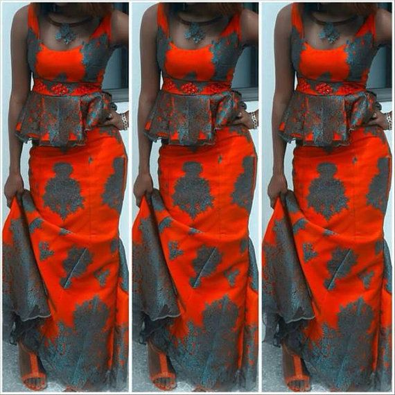 This is a beautiful African print dress which you will love much. It is available in the same print displayed or choose a different fabric of