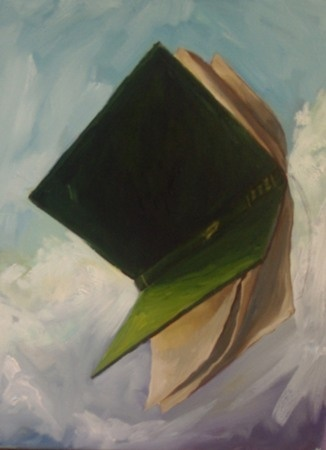 Ben Sheers  Book study 2 - 2012  Oil on canvas  46 x 36 cm