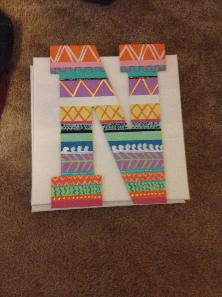 Tribal painted letter