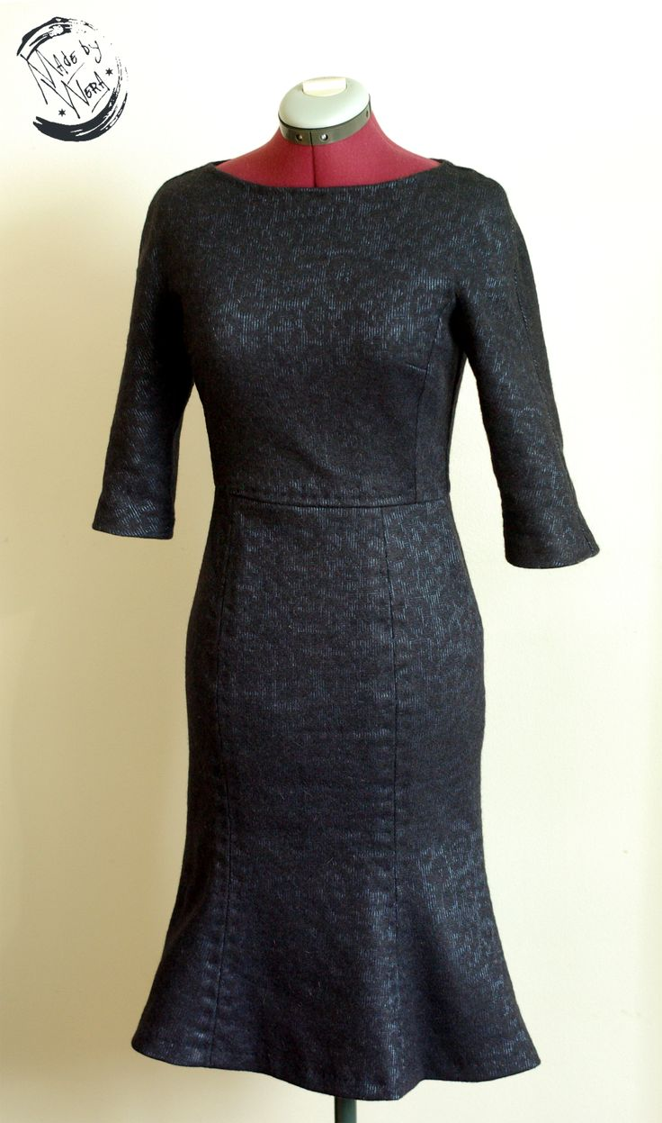 retro woolen dress