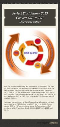 smart way to recover data from OST file to PST  https://infogr.am/ost-to-pst-707132