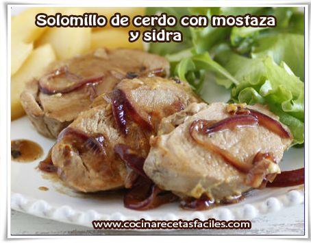 Solomillo de cerdo con mostaza y sidra - Solomillo de ternera al horno con mostaza ...