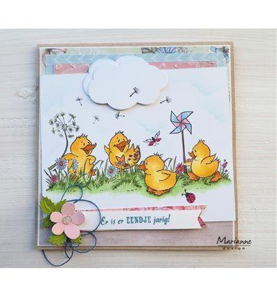Stempels : Marianne Design Clear Stamp - Hetty's ducks HT1615